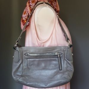 Leather NWOT fossil grey vintage inspired bag